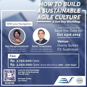 Flyer for Workshop on Sustainable Agile Work Culture for Companies