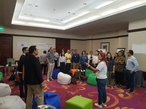 CEO & Co-Founder of 3V Company Ripy Mangkoesoebroto Leading Group Discussion