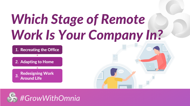 Remote Work Stages by Omnia